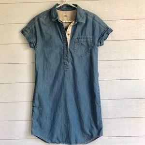 FOSSIL denim shirt dress
